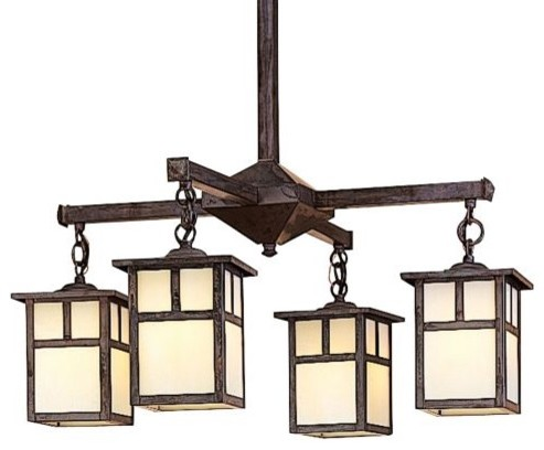mission modern chandeliers